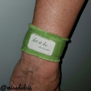 Beatles Bracelet Let It Be Cuff Uplifting Quote